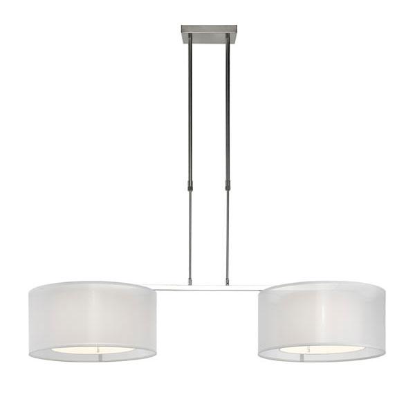 Tessuto hanglamp 2 lichts 131x47x90/120