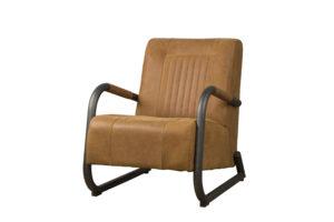 LM 0016 - Barn coffeechair - leather rust (V)