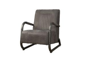 LM 0017 - Barn coffeechair - leather stone (V)